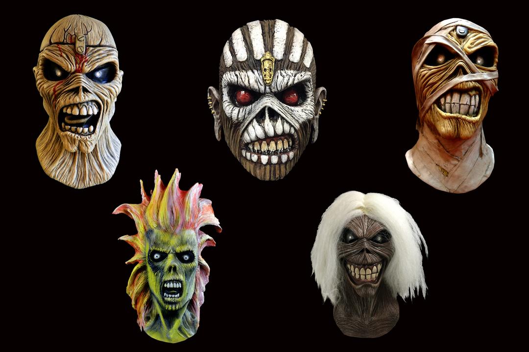 Helloweenska Maska Eddieho Radio Cas Rock
